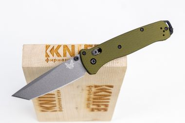 "Нож ""Bailout"" Crucible CPM-M4 Olive 6061-T6 Aluminum 537GY-1 от Benchmade — Kknife"
