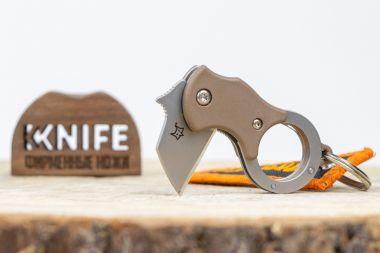 "Нож-брелок ""Mini-Ta"" 1.4116 Coyote Tan FRN FX-536CB от Fox Knives — Kknife"