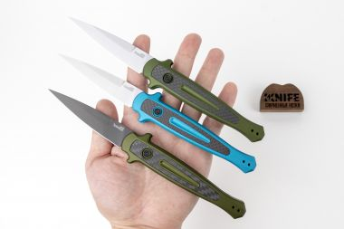 "Нож ""Launch 8"" Crucible CPM 154 Aluminium 7150TEALSW от Kershaw   — Kknife"