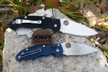 "Нож ""Manix 2 Lightweight"" Carpenter CTS - BD1 Blue FRN 101PBL2 от Spyderco — Kknife"