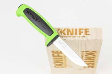 "Нож ""Basic 546"" Carbon Steel Black Polypropylen Green TPE 13451 от Morakniv — Kknife"