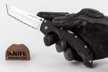 "Нож ""Voyager Large Tanto Point Serrated Edge"" AUS10A 29ATS от Cold Steel — Kknife"