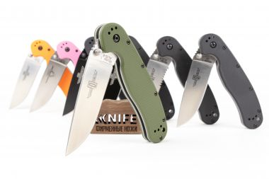 "Нож ""RAT-1 Model"" AUS-8 SP Olive GRN O8848 FG от Ontario Knife Co. — Kknife"