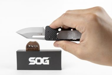 "Нож ""Ultra C-Ti Money Clip"" VG-10 Carbon fiber SOGAC79 от SOG — Kknife"