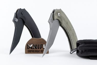 "Нож ""Geco"" N690 G-10/Titanium FOX knives by Bastinelli FX-537BR — Kknife"