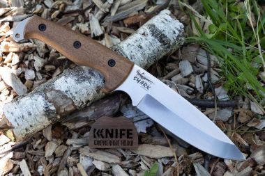 "Нож ""Shark"" AUS-8 Stonewash Walnut от Kizlyar Supreme — Kknife"