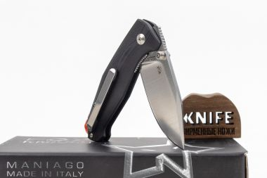 "Нож ""Tur"" Fox Knives N690 Black G-10 FX-523B — Kknife"