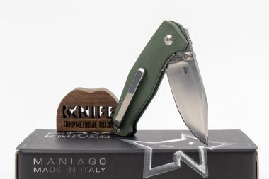"Нож ""Tur"" Fox Knives N690 OD Green G-10 FX-523OD — Kknife"