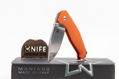 "Нож ""Tur"" Fox Knives N690 Orange G-10 FX-523OR — Kknife"