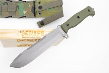 "Нож ""Survivalist X"" AUS-8 Tacwash Olive G-10 от Kizlyar Supreme — Kknife"