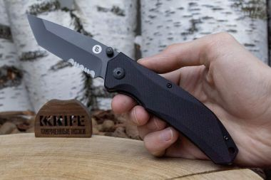 "Нож ""Otava"" 8Cr14MoV Black G-10 от Mr.Blade — Kknife"