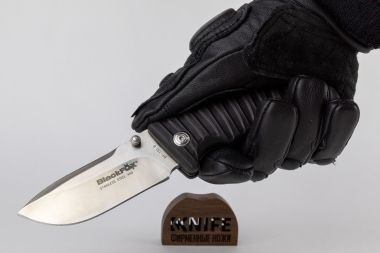 "Нож ""Black Fox Drop Point"" Black GRN, 440C Fox Knives BF-130B — Kknife"