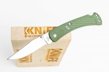 "Нож ""112 Ranger Slim Select"" 420НС Olive Nylon 0112ODS2 от Buck Knives — Kknife"