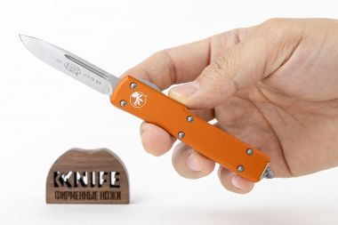"Нож ""UTX-70 S/E Orange Satin Standard"" Carpenter CTS-204P Aluminium 148-4OR от Microtech — Kknife"