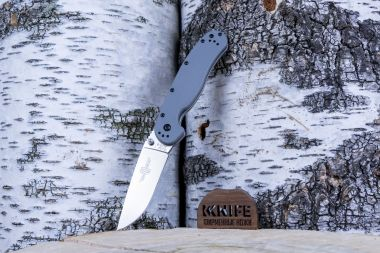 "Нож ""RAT-1 Model"" AUS-8 Gray GRN O8848GY от Ontario Knife Co. — Kknife"