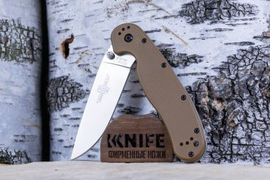 "Нож ""RAT-1 Model"" AUS-8 Brown GRN O8848 CB от Ontario Knife Co. — Kknife"