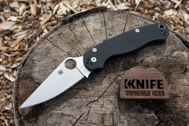 "Нож ""Paramilitary 2"" Crucible CPM S30V Black G-10 81GP2 от Spyderco — Kknife"