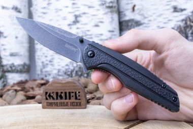 "Нож ""Pushrod"" 8Cr13MoV Black G-10 1345 от Kershaw — Kknife"