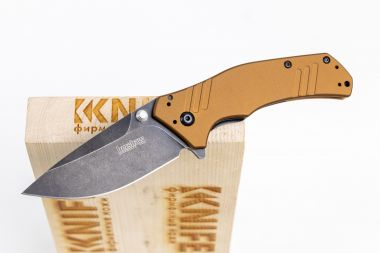"Нож ""Knockout"" Bohler M390 Brown Aluminium 1870EBBW Sprint Run от Kershaw — Kknife"