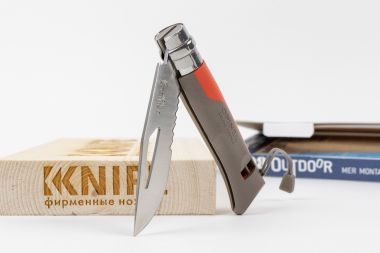 "Нож №8 ""Outdoor Earth"" Sandvik 12С27 FRN Красный 001714 от Opinel — Kknife"