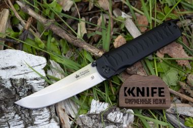 "Нож ""Whisper Black D2 Stonewash"" от Kizlyar Supreme  — Kknife"