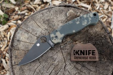 "Нож ""Para Military 2"" Crucible CPM S30V G-10 81GPCMOBK2 от Spyderco — Kknife"