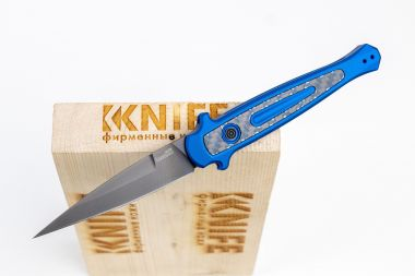 "Нож ""Launch 8"" Crucible CPM 154 Aluminium 7150BLUBLK от Kershaw — Kknife"