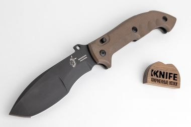 "Нож ""Meskwaki"" Brown G-10, N690 Fox Knives FX-501  — Kknife"