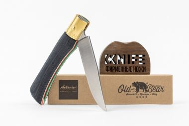 "Нож ""Old Bear Small"" 420 Laminated Wood 9307/17_MT от Antonini Knives — Kknife"
