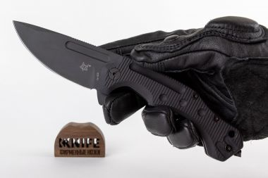 "Нож ""Desert Fox"" Black G-10, N690 by Boris Manasherov Fox Knives FX-520  — Kknife"