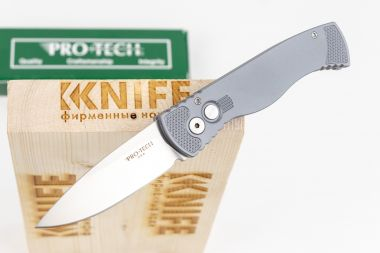 "Нож ""Tactical Response 2"" Crucible 154CM Satin Special Grey Aluminium TR-2.5SF от Pro-Tech — Kknife"