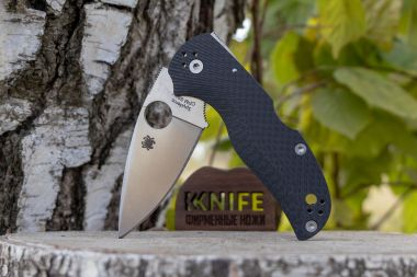 "Нож ""Native 5"" Crucible CPM-S90V Carbon Fiber C41CFFP5 от Spyderco — Kknife"