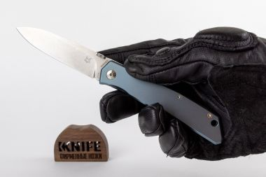 Нож Fox Knives FX-525 Ti BL, Blue Titanium, N690 Design by Bob Terzuola — Kknife