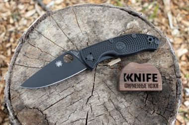 "Нож ""Tenacious Lightweight"" 8Cr13MoV Black FRN C122PBBK от Spyderco — Kknife"