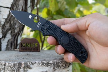 "Нож ""Native 5"" Lightweight Crucible CPM-S30V Black FRN C41PBBK5 от Spyderco — Kknife"