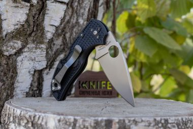 "Нож ""Native 5"" Lightweight Crucible CPM-S30V Black FRN C41PBK5 от Spyderco — Kknife"