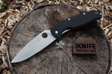 "Нож ""Resilience"" 8Cr13MoV Black G-10 C142GP от Spyderco — Kknife"