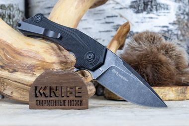 "Нож ""Munin"" 440C Black G-10 BF-747 FOX Knives — Kknife"