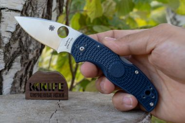 "Нож ""Native 5"" Lightweight Crucible CPM-S110V Dark Blue FRN C41PDBL5 от Spyderco — Kknife"