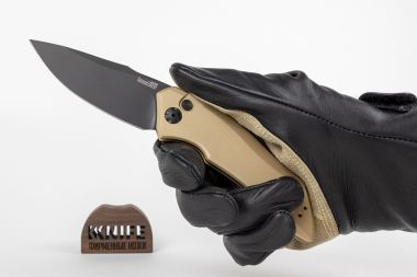 "Нож ""Launch 1"" Crucible CPM 154 Aluminium 7100TANBLK от Kershaw — Kknife"