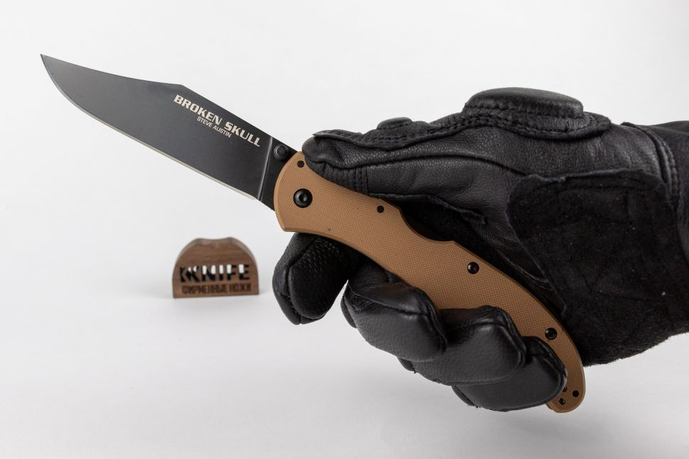 "Нож ""Broken Skull 4 (Coyote Tan) CPM-S35VN G-10 54S2A от Cold Steel фото 1 — Kknife"