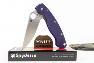 "Нож ""Military"" Crucible CPM S110V G-10 C36GPDBL от Spyderco — Kknife"