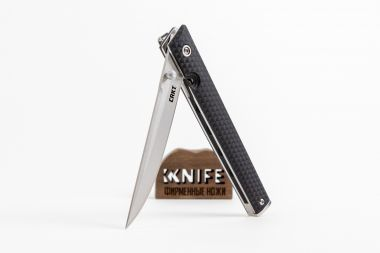 "Нож ""CEO"" 8Cr13MoV Black GRN 7096 от CRKT — Kknife"