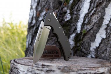 "Нож ""Code-4 Clip Point Plain"" CPM-S35VN Aluminium 58PC от Cold Steel — Kknife"