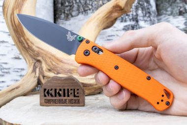 "Нож ""Bugout"" Crucible CPM M4 Orange G-10 CU535-BK-M4-G10-ORG от Benchmade — Kknife"