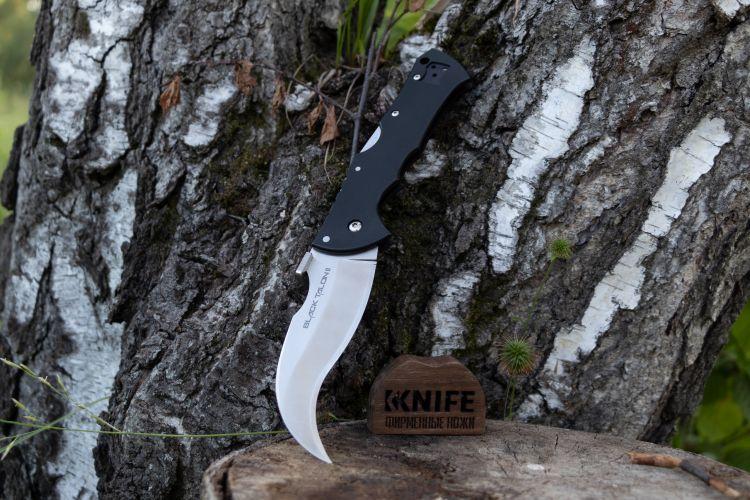 CS22BS Cold Steel Black Talon II S35VN Serr Blade Black G10 Handles Tri-Ad Lock