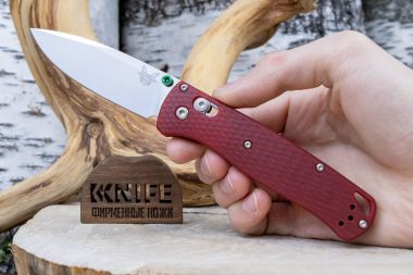 "Нож ""Bugout"" Crucible CPM S30V Red G-10 CU535-SS-S30V-G10-RED от Benchmade — Kknife"